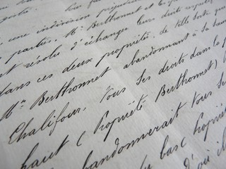 Une document ancienne