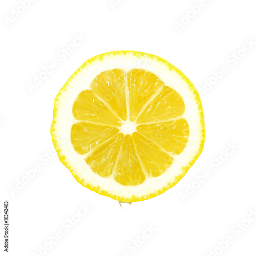 Lemon slice with water drop