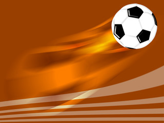 flying soccer football background design