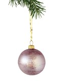 lila ornament and Christmas tree poster