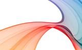 Colorful imagination fractal design poster