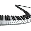 Piano keyboard render