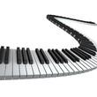 Leinwanddruck Bild - Piano keyboard render