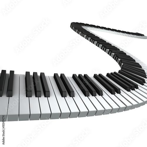 Leinwanddruck Bild Piano keyboard render