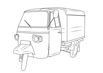 mezzo di trasporto retrò - disegno