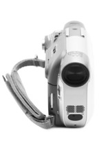 Camcorder isolated on a white background
