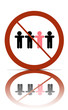 a no different people allowed symbol,