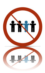 a no different people allowed symbol