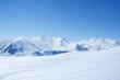 Fototapete Schnee - Blau -