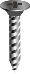 illustration of a metal screw