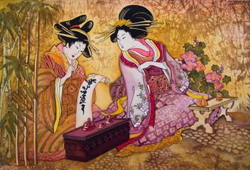geisha Japan batik © liliya kulianionak