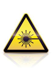 Panneau de danger laser (reflet)