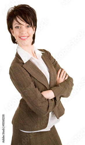 Smiling Businesswoman Standing With her Arms Crossed