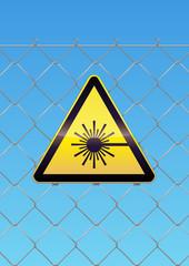 Panneau de danger laser