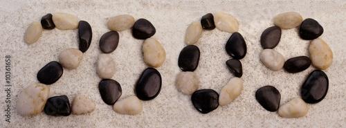 Papiers peints Zen pierres a sable 2009 sur la plage
