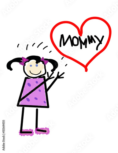 Child's Love for Mommy Illustration