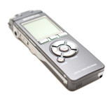 Voice recorder isolate on white poster