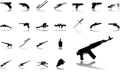 Big set icons. Weapon