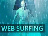 Web surfing illustration, digital virtual avatar abstract poster
