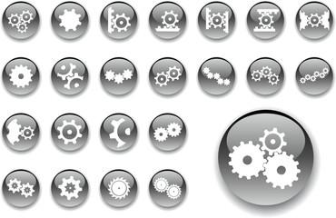 Set buttons. Gears