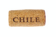 Cork from the Chilean wine photo on the white background