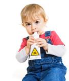 danger risque bébé bouche avaler tube domestique accident poster