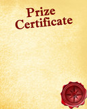 prize certificate with a wax seal on it poster