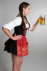 German Woman With Beer