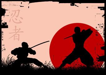ninja silhouettes