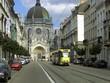 tramway dans une rue à Bruxelles