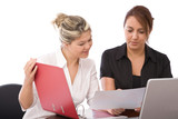 business teamwork concept with businesswomen at the office poster