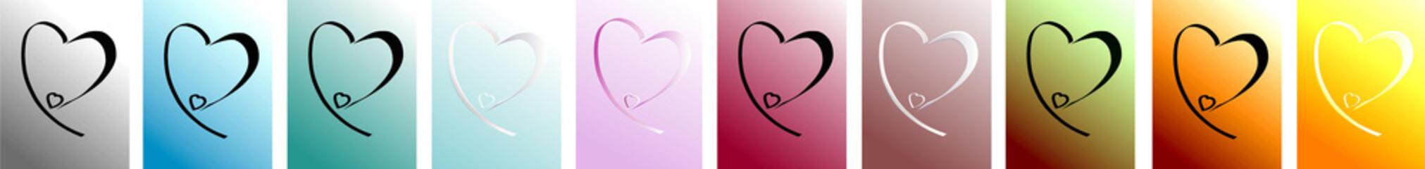 Coeurs planche