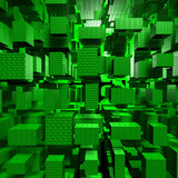 Green Technologic Cubes - 10379854