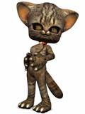 Little Kitty-3D Figur poster