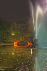 Night image in a park.Location:Cismigiu Grarden,Bucharest