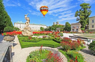Mirabell palace and garden in the summer Salzburg, Austria