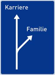 Karriere–Familie (Autobahntafel)