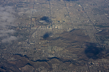 Aerial of Phoenix Arizona urban sprawl