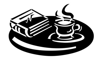 teacup and book