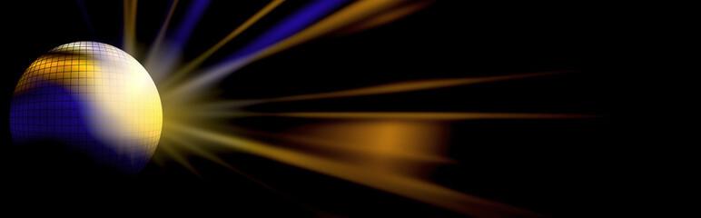 boule à facette avec lumière - light and disco ball illustration