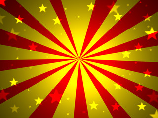 background red yellow stars