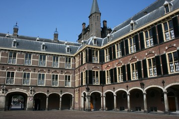 Binnenhof in Den Haag, building of dutch parliament