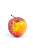 Slightly rotten apple isolated on the white background poster