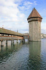 The charming city of Lucern in Switzerland