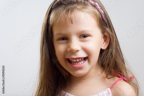 Portrait of cute little girl.