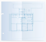 realistic blueprint poster