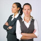 Businesswomen in conflict poster