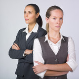 businesswomen with crossed arms poster