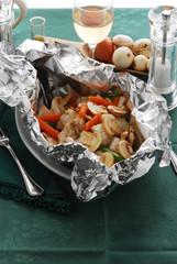 Coda di rospo al cartoccio con verdure - Secondi del Veneto