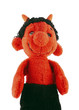 hand puppet - red furry little devil - old scratch